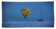 Beach Towel featuring the photograph Lake Tahoe Balloon by Mitch Shindelbower