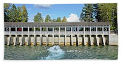 Beach Towel featuring the photograph Lake Tahoe Dam by David Lawson