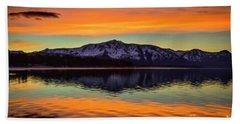 Lake Tahoe Glow Beach Sheet by Mitch Shindelbower
