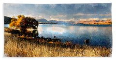 Beach Sheet featuring the digital art Lake Tekapo by Kai Saarto