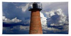 Lake Toho Lighthouse 002  Beach Sheet by Chris Mercer