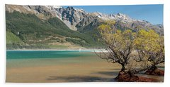 Lake Wakatipu Beach Sheet by Werner Padarin