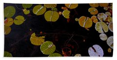 Beach Sheet featuring the painting Lake Washington Lilypad 8 by Thu Nguyen