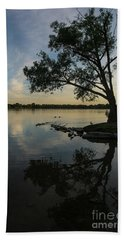 Lake Wilcox Lone Tree 0690 Beach Towel