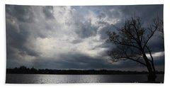 Lake Wilcox Thunder Clouds-1519 Beach Towel