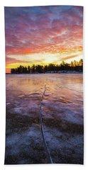 Lake Winnipesaukee January Sunrise Beach Sheet