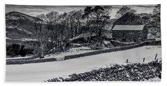 Beach Sheet featuring the photograph Lakeland Barn by Keith Elliott