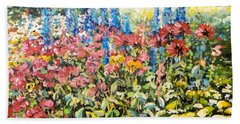 Lakeside Garden Beach Towel