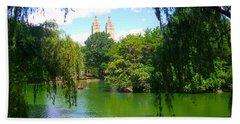 Lakeside In Manhattan, New York Beach Towel