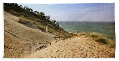 Beach Towel featuring the photograph Laketown Dune Panorama by Michelle Calkins