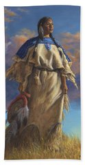 Lakota Woman Beach Towel by Kim Lockman
