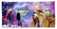 Beach Towel featuring the digital art Lamb Of God by Dolores Develde