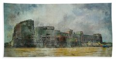 Beach Towel featuring the photograph Lambeau Field Watercolor by Joel Witmeyer