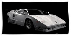 Lamborghini Countach 5000 Qv 25th Anniversary Beach Sheet