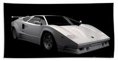 Lamborghini Countach 5000 Qv 25th Anniversary Beach Towel
