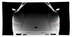 Lamborghini Countach 5000 Qv 25th Anniversary - Front View  Beach Sheet