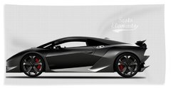 Lamborghini Sesto Elemento Beach Sheet by Mark Rogan