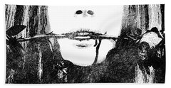 Lana Del Rey Bw Portrait Beach Sheet