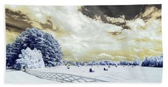 Lancaster Farm In Ir Beach Towel