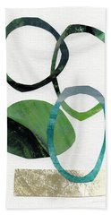 Land And Sea- Abstract Art Beach Towel