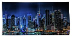 Land Of Tall Buildings Beach Towel
