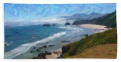 Land Of The Big Cloud Beach Towel by Adam Asar