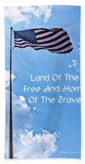 Land Of The Free Beach Sheet by Joann Copeland-Paul