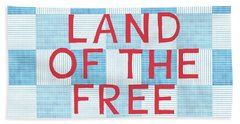Land Of The Free Beach Sheet by Linda Woods
