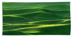 Beach Towel featuring the photograph Land Waves by Ryan Manuel