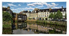 Landerneau Village View Beach Towel