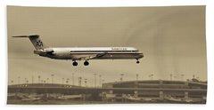 Landing At Dfw Airport Beach Sheet