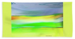 Beach Sheet featuring the painting Landscape In My Dreams by Lenore Senior