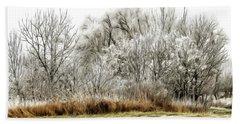 Landscape In Winter Beach Sheet