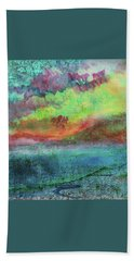 Landscape Of My Mind Beach Sheet by Lenore Senior