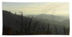 Landscape On The Swiss Plateau Beach Sheet