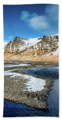 Beach Sheet featuring the photograph Landscape Sudurland South Iceland by Matthias Hauser