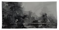 Landscape Value Study Beach Towel