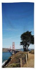 Landscape With Golden Gate Bridge Beach Sheet