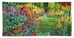 Landscape With Poppies Beach Towel