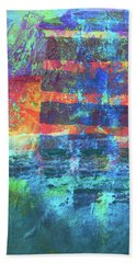 Beach Towel featuring the painting Language by Nancy Merkle
