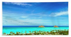 Lanikai Beach From The Pillbox Trail Beach Towel by Aloha Art