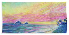 Lanikai Sunrise Beach Towel