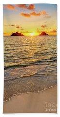 Lanikai Sunrise Between The Mokes Beach Towel