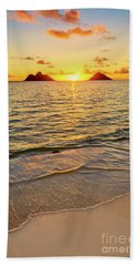 Lanikai Sunrise Between The Mokes Beach Sheet