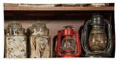 Lanterns And Wicks Beach Sheet by Jay Stockhaus