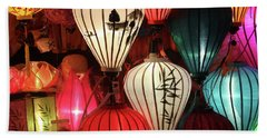 Lanterns Colors Hoi An Beach Sheet