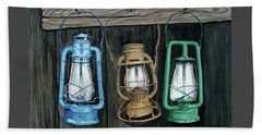 Beach Towel featuring the painting Lanterns by Ferrel Cordle