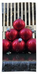 Large Red Ornaments Beach Towel