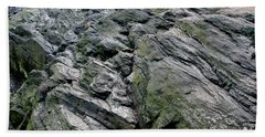 Large Rock At Central Park Beach Towel by Sandy Moulder
