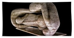 Large Sculpture In Las Vegas Beach Towel by Walt Foegelle